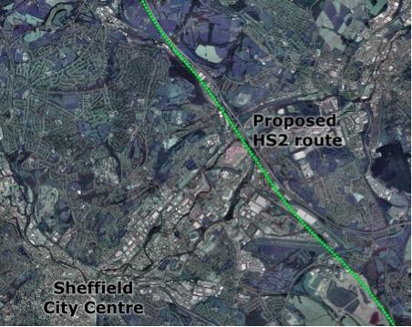 HS2 Sheffield route