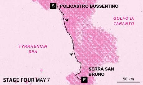 Giro d'Italia 2013 stage 4 map
