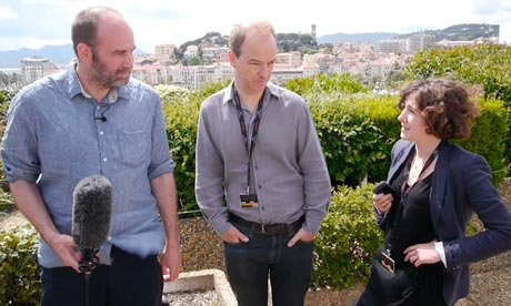 Xan Brooks, Peter Bradshaw and Catherine Shoard at the Cannes film festival