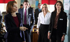 Amelia Bullmore, Danny Miller. Lesley Sharp and Suranne Jones in Scott & Bailey.