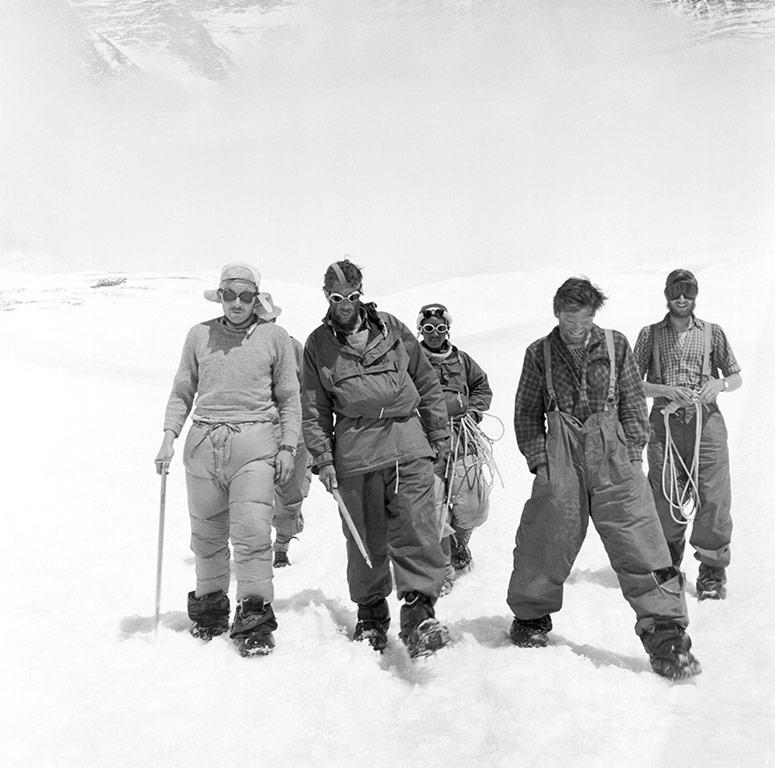 1953 Everest team members return to Camp IV