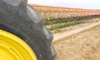 A large tractor wheel along the side of a farming trench. Image shot 2008. Exact date unknown.