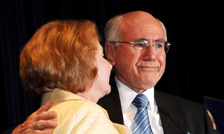 John Howard with his wife, Janette, as he concedes defeat in the general election in 2007.