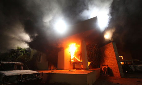 US Consulate in Benghazi attacked by terrorists in 2012