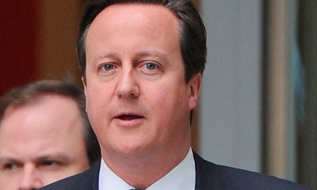 David Cameron at BBC studios in London on 22 May 2013