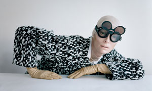 Tilda Swinton And Aviator Goggles