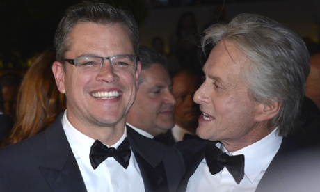 Matt Damon and Michael Douglas at the Behind the Candelabra film premiere in Cannes 2013