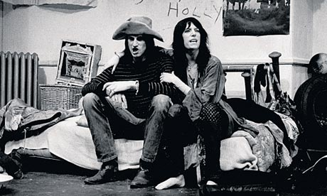 Patti Smith and Sam Shepard in their play, Cowboy Mouth, in New York in 1971.