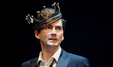 Crowned at last: David Tennant in Hamlet, 2008.