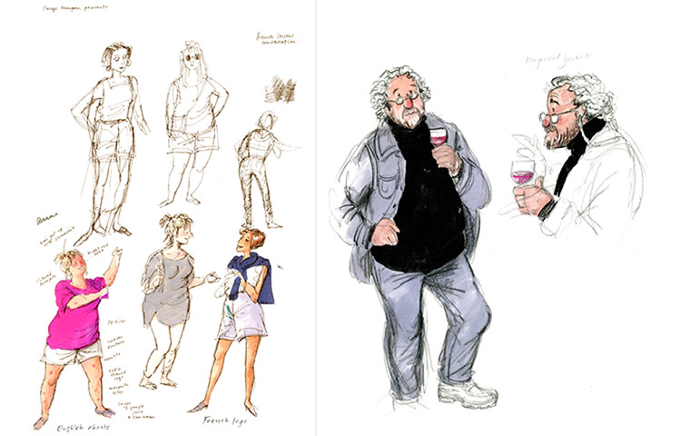 Posy Simmonds sketchbook: posy simmonds - sketchbook