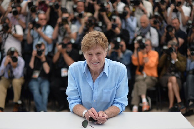 US actor and director Robert Redford poses during a photocall for the film