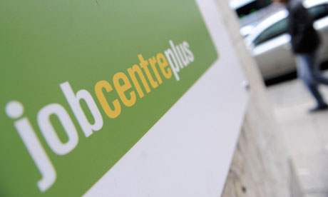 A Jobcentreplus sign