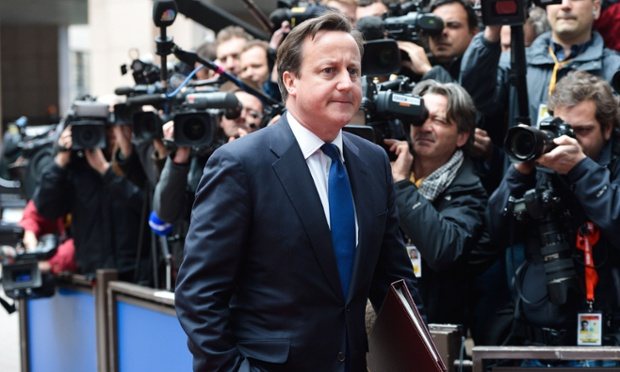 David Cameron arriving at the EU Summit in Brussels to discuss ways of tackling tax evasion and avoidance - no wonder he's pulling that face.