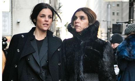 Julia Restoin Roitfeld with her mum, Carine Roitfeld