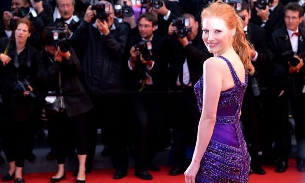 Actress Jessica Chastain attends the 'All Is Lost' Premiere during the 66th Annual Cannes Film Festival, France.