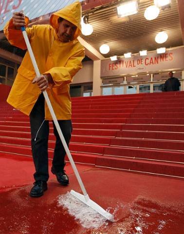 Heavy rain at Cannes Film Festival