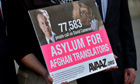Petition asylum for Afghan translators
