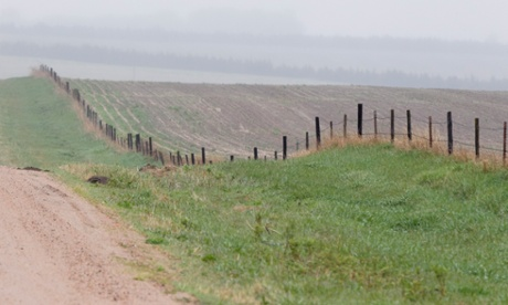 Part of the route for the Keystone pipeline in Nebraska. Photograph: Nati Harnik/AP