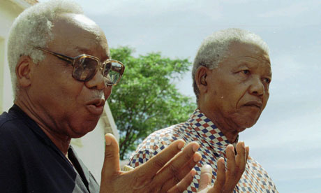 Julius Nyerere with Nelson Mandela