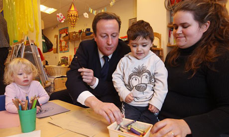 David Cameron's government has stalled in attempts to reform childcare