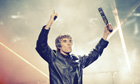 Ian Brown on stage at Heaton Park 2012