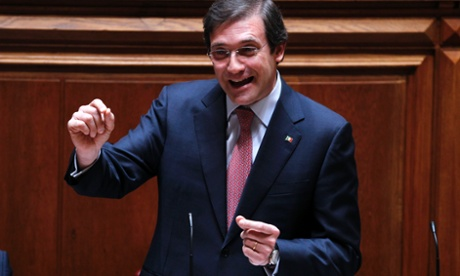 Portugal's prime minister Pedro Passos Coelho at the Portuguese parliament. Photograph: AP Photo/Francisco Seco