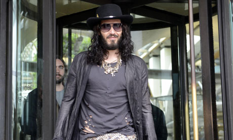 Russell Brand leaves Portcullis House, Westminster