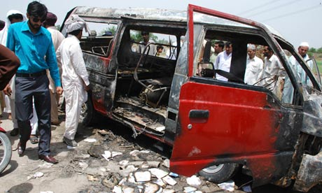Pakistan school bus fire kills 16 children