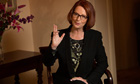 Prime Minister Julia Gillard during an interview with Guardian Australia at Kirribilli House
