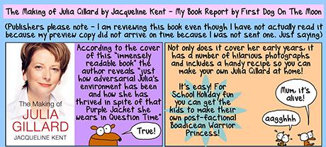 Making of Gillard cartoon