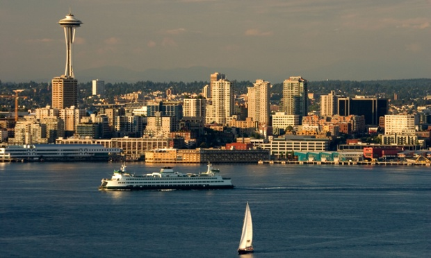 Seattle city skyline.