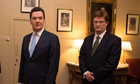 George Osborne and chief secretary to Treasury, Danny Alexander in March 2013