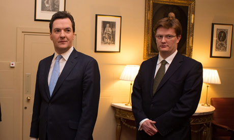 George Osborne and chief secretary to Treasury, Danny Alexander in March 2013