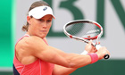Samantha Stosur of Australia plays a backhand