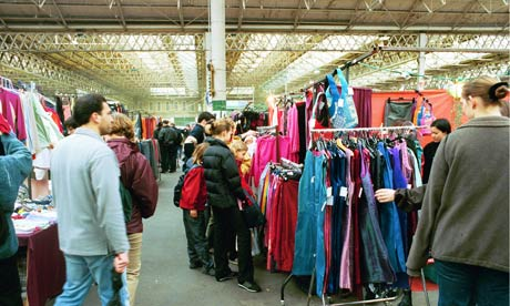 clothes in market