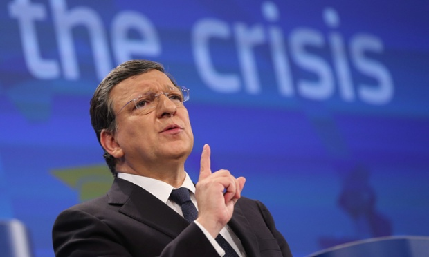 European Commission President Jose Manuel Barroso gives a press briefing to present the 2013 Country-Specific Recommendations on Financial situation at the EU headquarters in Brussels, Belgium, 29 May 2013.
