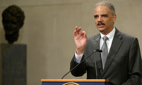 Eric Holder denied any knowledge of attempts to prosecute journalists using the Espionage Act. Photograph: Chip Somodevilla/Getty Images