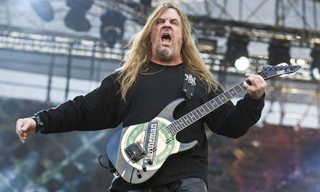 Jeff Hanneman in 2010. He wrote Slayer's best-known song, Angel of Death