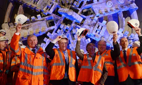 Boris Johnson and Crossrail workers