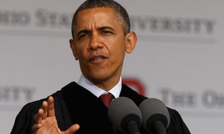 US President Barack Obama delivers commencement address at Ohio State University