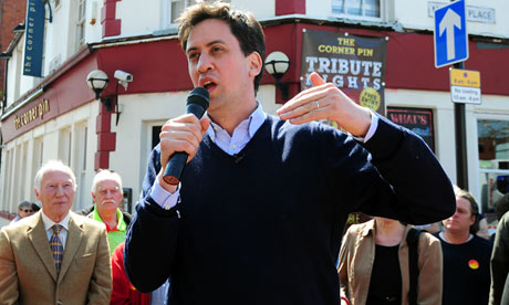 Ed Miliband on the local election campaign trail