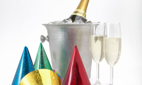 Party Hats, Streamers and Champagne
