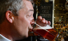 Nigel Farage (with pint)