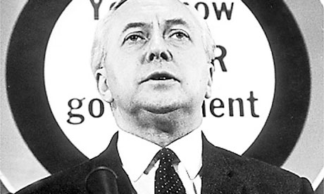 Harold Wilson making a speech