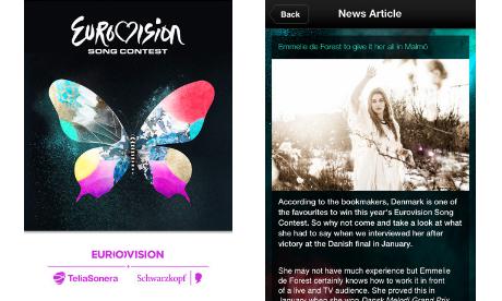Eurovision 2013 app