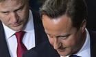 Nick Clegg and David Cameron, 8 May 2