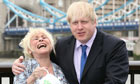Boris Johnson and Barbara Windsor