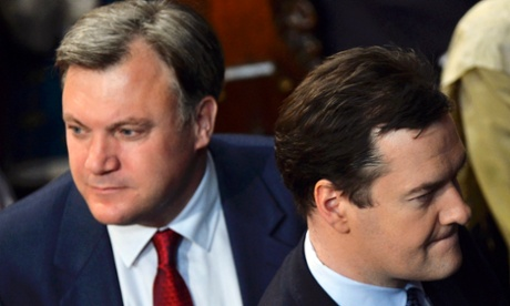 Ed Balls (left) with George Osborne at the state opening of parliament.