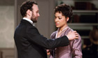 David Sturzaker as Torvald and Cush Jumbo as Nora Helmer in A Doll&#39;s House