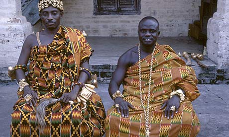 Asante paramount chiefs in kente